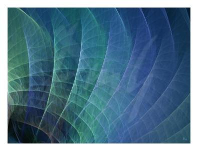 Feather fan blå